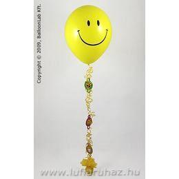 Smile Mosolygós Lufi Dekoráció Születésnapra - 160 cm-es