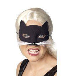 Fekete Macska Szemmaszk Bajusszal