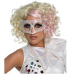Szőke-Pink Lady Gaga Paróka