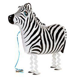 Sétáló Zebra Héliumos Lufi
