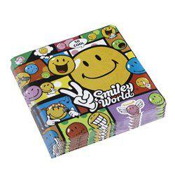 Smiley Comic Mókás Parti Szalvéta - 33 cm x 33 cm, 20 db-os
