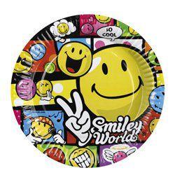 Smiley Comic Mókás Parti Tányér - 23 cm, 8 db-os