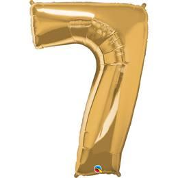 34 inch-es Number 7 Gold - Arany Számos Héliumos Fólia Lufi