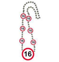 16-os Sebességkorlátozó Számos Szülinapi Parti Nyaklánc