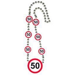 50-es Sebességkorlátozó Számos Szülinapi Parti Nyaklánc