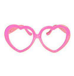 Szív Alakú Szemüveg - Rózsaszín