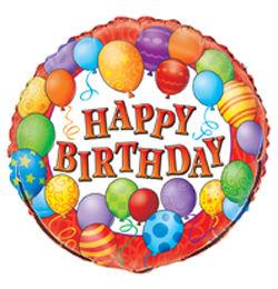 18 inch-es Birthday Balloons - Léggömbös Szülinapi Héliumos Fólia Lufi