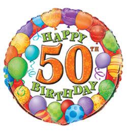 50 születésnapi képek Léggömbös 50. Születésnapi Héliumos Fólia Lufi   46 cm 50 születésnapi képek