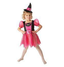 Kitty Boszorkány Jelmez Kislányoknak, 2-3 Éveseknek - Rózsaszín-Fekete