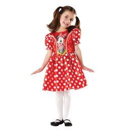 Minnie Egér - Minnie Mouse Piros-Fehér Pöttyös Ruha - 3-4 éveseknek, S-es