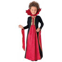 Fekete Piros Vámpír Farsangi Jelmez Kislányoknak, 8-10 Éveseknek