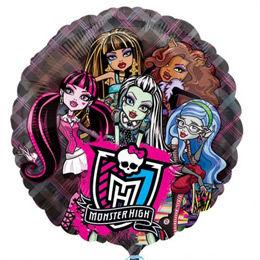 26 inch-es Monster High Átlátszó Héliumos Fólia Lufi