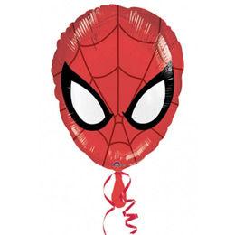 18 inch-es Pókember Fej - Ultimate Spiderman Head - Héliumos Fólia Lufi
