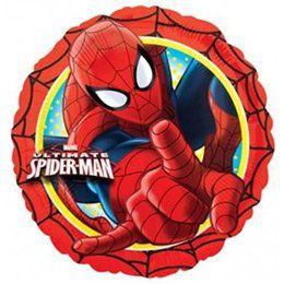 17 inch-es Pókember - Spiderman Action - Héliumos Fólia Lufi