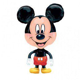 Mikiegér - Mickey Mouse Sétáló Héliumos Fólia Lufi, 76 cm-es