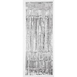 Ezüst Parti Ajtódekoráció - 91 cm x 240 cm