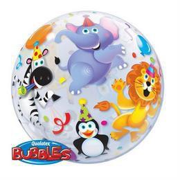 22 inch-es Parti Állatok - Party Animals Héliumos Bubble Lufi