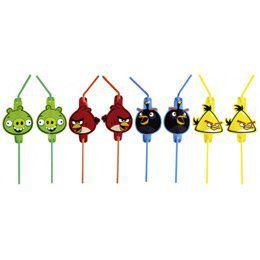 Angry Birds Parti Szívószál - 8 db-os