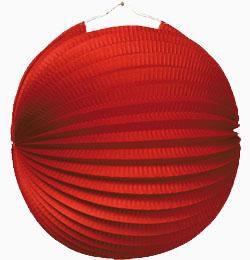 Piros Gömb Lampion - 25 cm