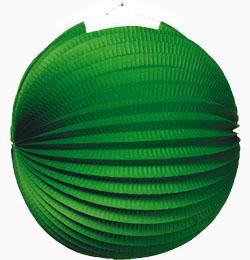 Zöld Gömb Lampion - 25 cm