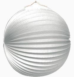 Fehér Gömb Lampion - 25 cm