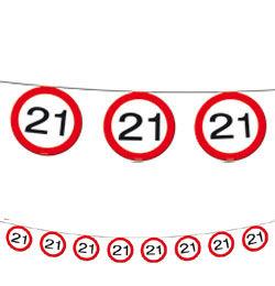 21-es Sebességkorlátozó Szülinapi Parti Füzér - 12 m