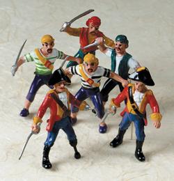 Kalóz (Pirate) Parti Játék Kalóz Figura - 6 cm