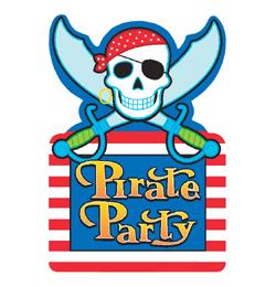 Kalóz (Pirate) Parti Meghívókártya - 8 db-os