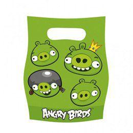 Angry Birds Szülinapi Parti Ajándékzacskó - 6 db-os
