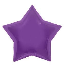 9 inch-es Purple Star - Lila Csillag Fólia Lufi (5 db/csomag)