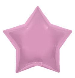 9 inch-es Pastel Pink Star - Pasztel Pink Csillag Fólia Lufi (5 db/csomag)