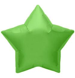 9 inch-es Lime Green Star - Limezöld Csillag Fólia Lufi (5 db/csomag)