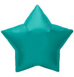 9 inch-es Teal Star - Türkiz Kék Csillag Fólia Lufi (5 db/csomag)