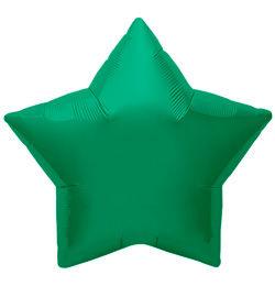 9 inch-es Emerald Green Star - Smaragd Zöld Csillag Fólia Lufi (5 db/csomag)