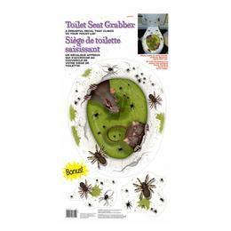 Patkányok és Pókok WC Dekoráció Halloween-re
