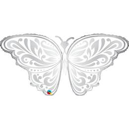 44 inch-es Pillangó - Wedding Butterfly Esküvői Héliumos Fólia Lufi