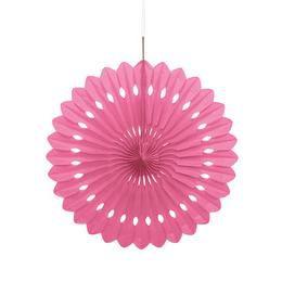 Pink Legyező Függő Dekoráció - 41 cm-es