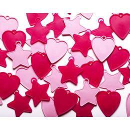 Pink Csillag és Szív Léggömbsúly Assortment - 8 gramm (25 db/csomag)