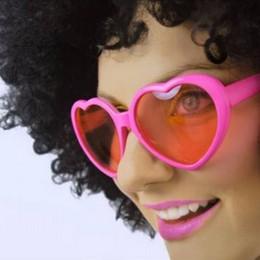 Pink Színű Szív Alakú Szemüveg