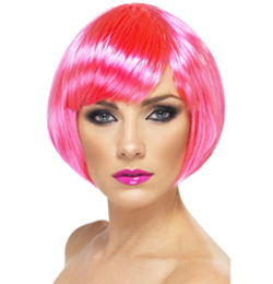 Neon Pink Babe Paróka