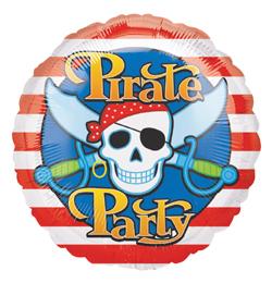 18 inch-es Pirate Parti Héliumos Fólia Lufi