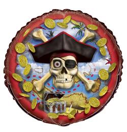 18 inch-es Pirate Bounty - Kalóz Héliumos Fólia Lufi