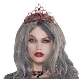 Piros Díszes Tiara Halloween-re