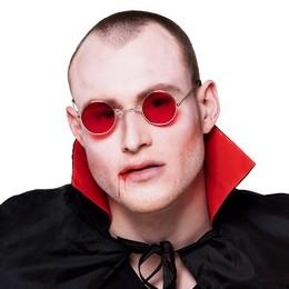 Piros Lencsés Vámpír Szemüveg