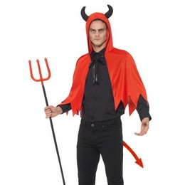 Piros Ördög Készlet Felnőtteknek Köpennyel