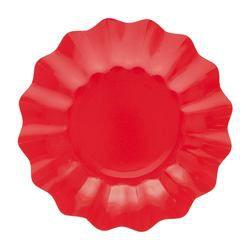 Piros Papír Parti Tányér - 8 db-os, 27 cm