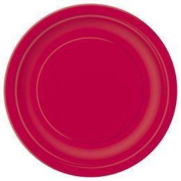 Ruby Red Papír Parti Tányér - 23 cm, 8 db-os