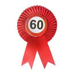 Piros Szalagos 60-as Sebességkorlátozó Szülinapi Számos Parti Kitűző