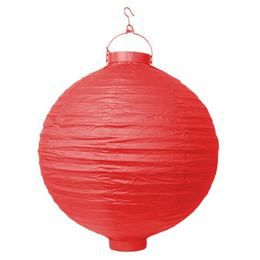 Piros Világító Gömb Lampion - 20 cm