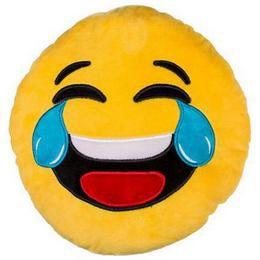 Nevető Smiley, plüss emoji párna, 45 cm